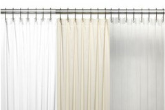 "Bulk Case Pack (24 pcs @ $6.99 ea) Vinyl Shower Curtain Liner - 78"" long"