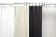 "Bulk Case Pack (24 pcs @ $7.87 ea) Vinyl Shower Curtain Liner - 84"" long available in white, bone, clear, black"