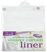 Bulk Case Pack 8 Gauge Vinyl Shower Curtain Liner - Stall Size
