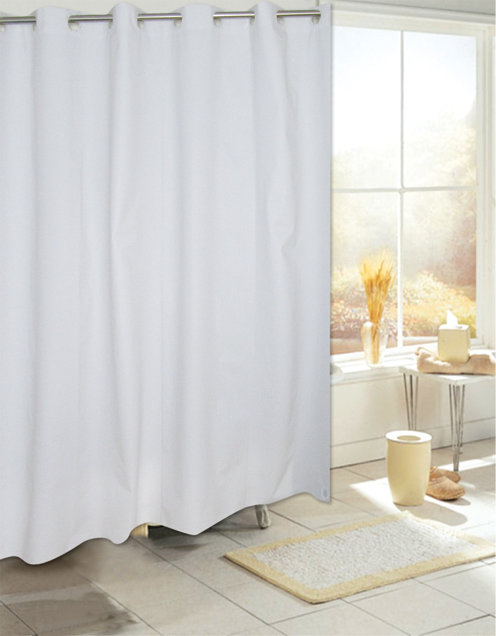 Bulk Case Pack Hookless Vinyl Shower Curtain Liner