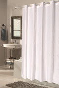 Bulk Case Pack Hookless Fabric Shower Curtain Checks - Standard Size White