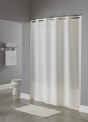 Bulk Case Pack (24 pcs) Hookless PlainWeave Fabric Shower Curtain - Standard Size Beige