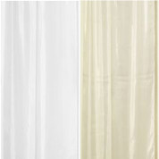 "Extra Long Fabric Shower Curtain Liner 96"" long"
