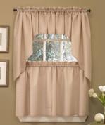 Seersucker Kitchen Curtain Linen