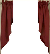 Ribcord kitchen curtain swag - Wine