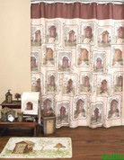 Outhouses - Fabric Shower Curtain and Bathroom Accessories collection