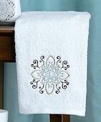 Medallion - Embroidered Fingertip Towel
