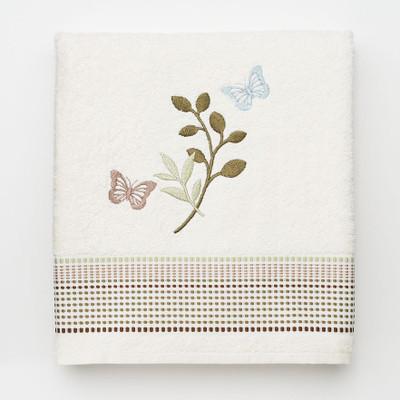Fluttering - Embroidered Bath Towel
