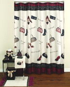 Chantilly Shower Curtain & Bathroom Accessories from Saturday Knight