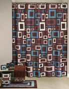 Esquire Shower Curtain & Bathroom Accessories