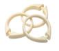 Snap Tight Plastic Shower Hooks (set of 12) - Bone