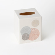 Dots & Rings Tissue Box cover from Saturday Knight