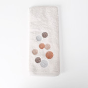 Dots & Rings hand towel from Saturday Knight