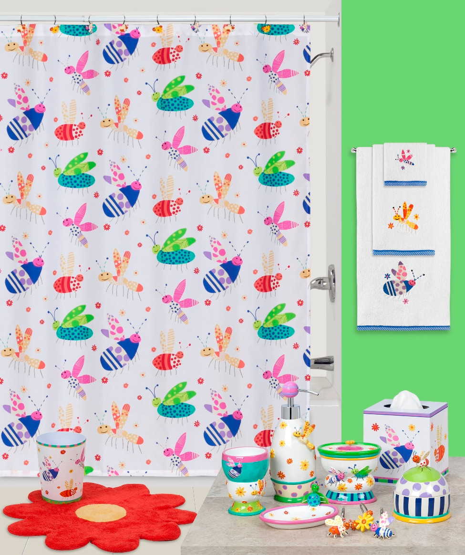 Cute As A Bug Shower Curtain And Bathroom Accessories By Creative Bath