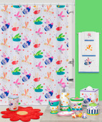 Cute as a Bug Shower Curtain and Bathroom Accessories by Creative Bath