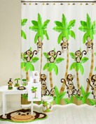 Monkey Town Shower Curtain & Bathroom Accessories