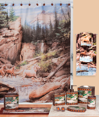 Horse Canyon shower curtain & bathroom accessories