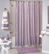 Shimmer Stripes Purple Shower Curtain & Bathroom Accessories