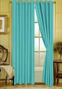 Elaine Grommet Top Curtain - Turquoise