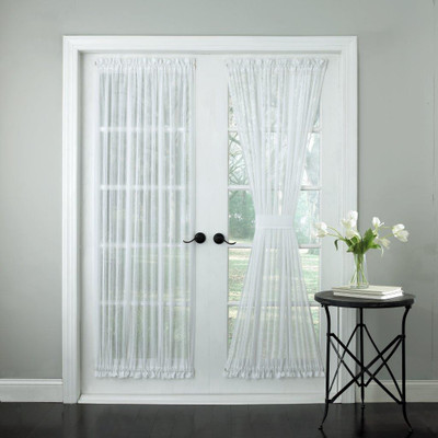 Harmony Sheer Stripe Door Panels - Available in White or Ivory
