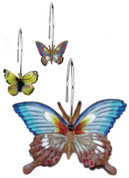 Mariposa Butterflies Shower Curtain Hooks - set of 12