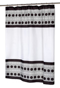Metro Black - Fabric Shower Curtain