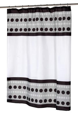 Metro Black - Fabric Shower Curtain