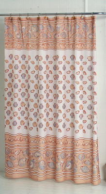 South Beach Seashells Ivory - Fabric Shower Curtain