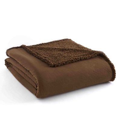 Sherpa Reversible Blanket - Chocolate from Shavel