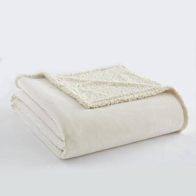 Sherpa Reversible Blanket - Ivory from Shavel
