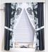 Chelsea Black - Fabric Window Curtain
