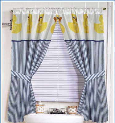 Rubber Ducky - Fabric Window Curtain