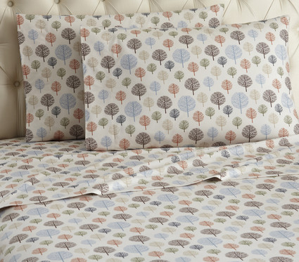 Micro Flannel Sheet Set - Trees from Shavel