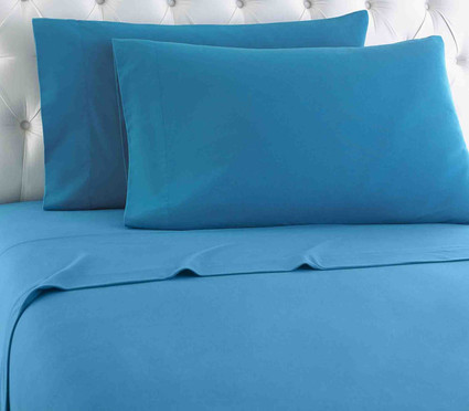 Micro Flannel Solid Sheet Set - Teal