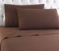 Micro Flannel Solid Sheet Set - Chocolate from Shavel