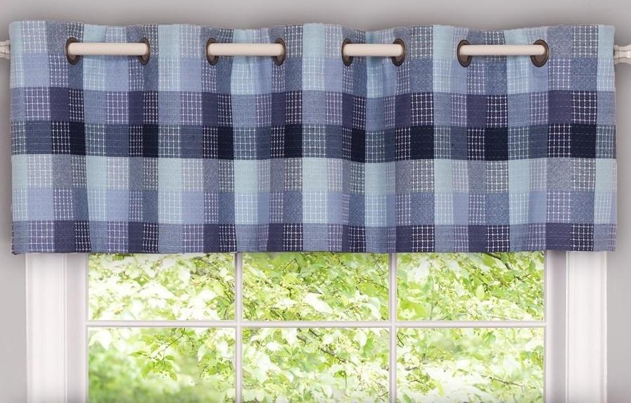 Linens4Less.com & Harvard grommet kitchen valance - Blue