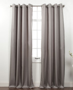 Memento Grommet Top Curtain Panel - Smoke Grey