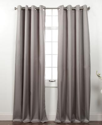 Memento Grommet Top Curtain Panel - Smoke Grey