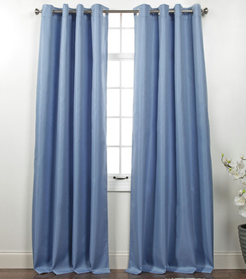 Memento Grommet Top Curtain Panel - Provence Blue