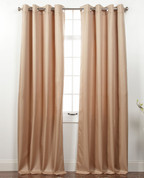 Memento Grommet Top Curtain Panel - Taupe