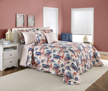 Seashore Quilted Bedspreads - Coral