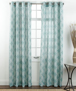 Theo Printed Grommet Top Curtain Panel - Rain from Belle Maison
