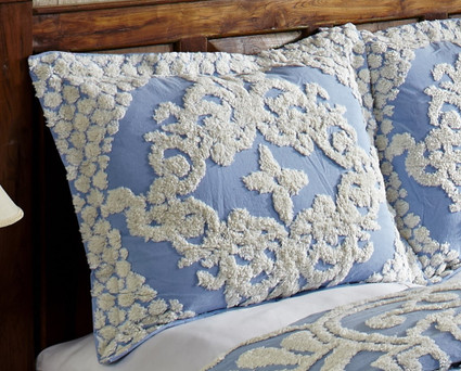 Florence Chenille Pillow Sham - Blue (each sold separately)