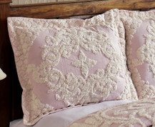 Florence Chenille Pillow Sham - Pink from Better Trends