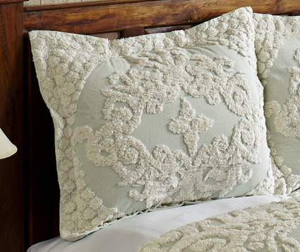 Florence Chenille Pillow Sham - Sage