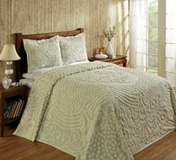 Florence Chenille Bedspread Full - Sage from Better Trends