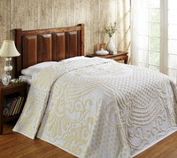 Florence Chenille Bedspread Twin - White