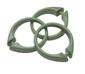 Snap Tight Plastic Shower Hooks (set of 12) - Sage