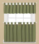 Westlake Kitchen Curtains in Sage green from Saturday Knight Ltd