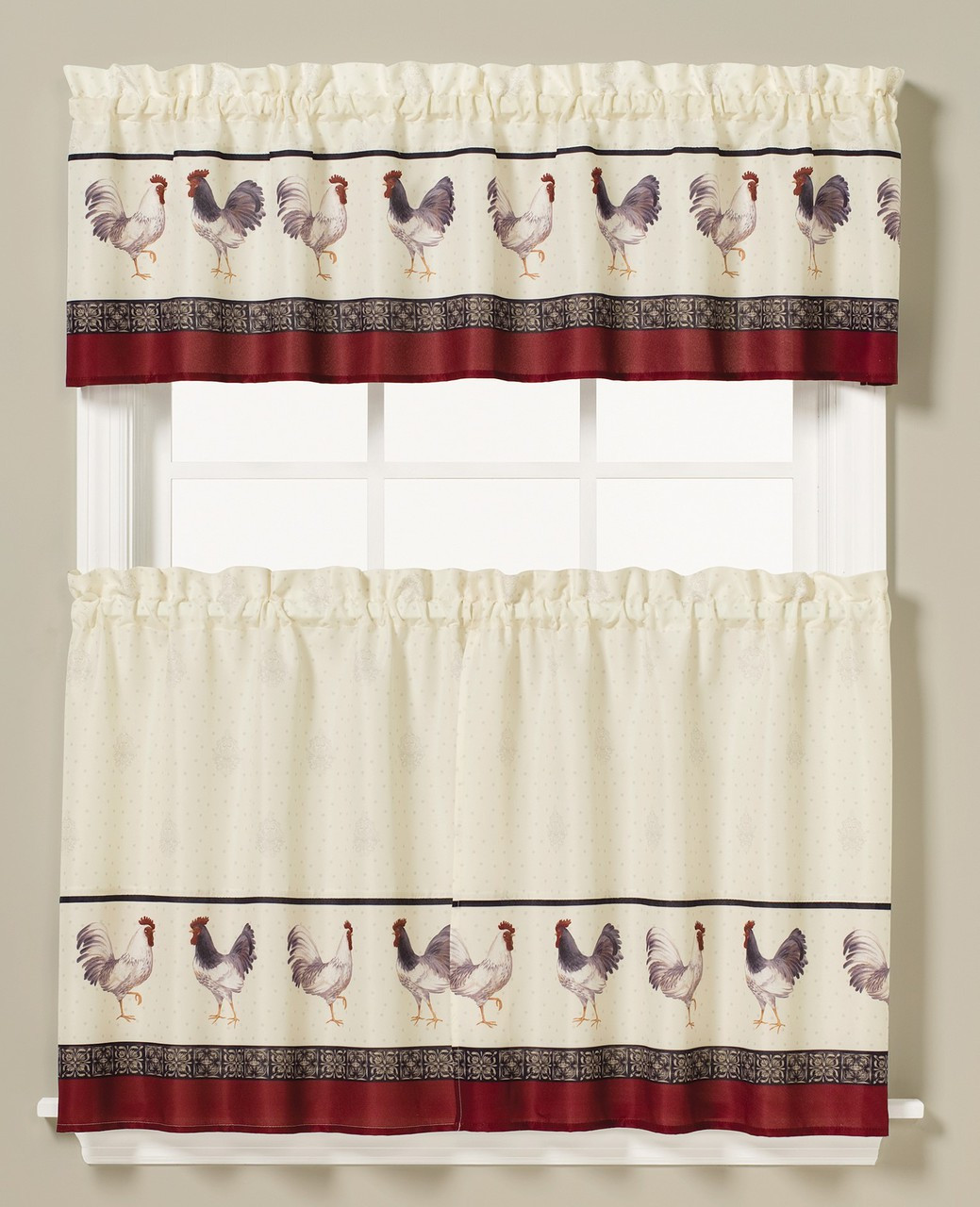 French Country Kitchen Curtain Linens4less Com